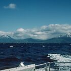 Narvik way in distance from boat to Svolvaer Norway  198406200011 by Fred Mitchell