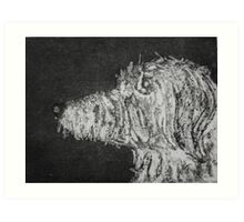 Mr Finn, Canine,  Etching Art Print