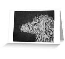 Mr Finn, Canine,  Etching Greeting Card