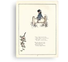 Under the Window Pictures and Rhymes for Children Edmund Evans and Kate Greenaway 1878 0054 Shall I Sing Canvas Print