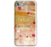 BREATHE inspirational contemporary abstract painting iPhone Case/Skin