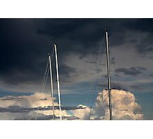 sailing in the cloudy sky Photographic Print