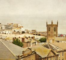 Rooftops of St Ives Sticker