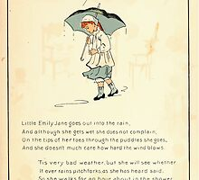 The Glad Year Round for Boys and Girls by Almira George Plympton and Kate Greenaway 1882 0017 Little Emily Jane Rain by wetdryvac