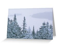Snowstorm on Bald Mountain Greeting Card