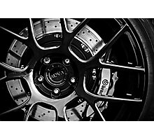 ADV. 1 Black White Rim Wheel Dark Photographic Print