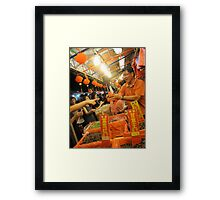 Chinese New Year Market Stall  Framed Print
