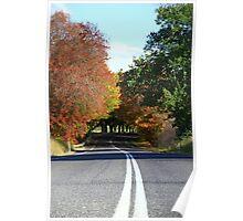 WWI memorial drive. Yackandandah, Victoria, Australia. Poster