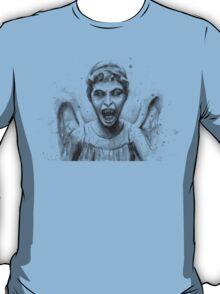 Weeping Angel Watercolor - Doctor Who Fan Art T-Shirt