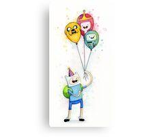 Finn with Birthday Balloons Jake Princess Bubblegum BMO Canvas Print