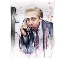 Nicolas Cage | A Vampire's Kiss | Watercolor Painting Poster