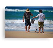 Father & Son Canvas Print