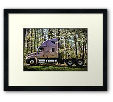 """One Hard Working Man With His New Truck"" Framed Print"