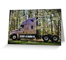"""""""One Hard Working Man With His New Truck"""" Greeting Card"""