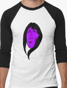 Mourning Girl (violet) Men's Baseball ¾ T-Shirt