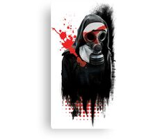 Dark Gas Mask Nun Canvas Print
