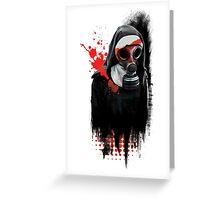 Dark Gas Mask Nun Greeting Card