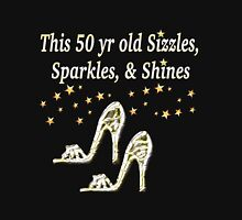 SPARKLING 50TH BIRTHDAY SHOE QUEEN Women's Fitted Scoop T-Shirt