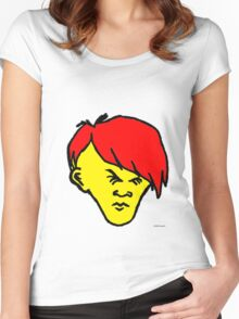 Youth (red hair yellow skin) Women's Fitted Scoop T-Shirt