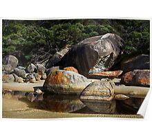 Granite rocks at Tidal River Poster