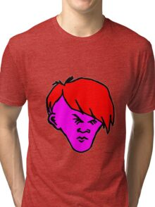Youth(red hair pink skin) Tri-blend T-Shirt