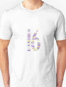 LAKERS 16 Championships typography T-Shirt