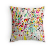 Secret Language of Prayers abstract pattern  Throw Pillow
