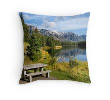 Johnson Lake - Banff National Park Throw Pillow