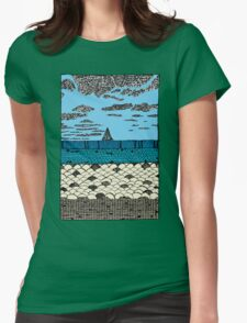 Crystal Cove Sailing Womens Fitted T-Shirt