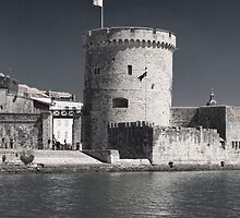 Harbour Tower, La Rochelle, France by Elaine Teague