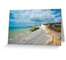 Seven Sisters from Birling Gap: East Sussex, UK Greeting Card