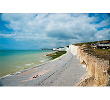 Seven Sisters from Birling Gap: East Sussex, UK Photographic Print