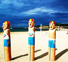 Lifesaver Bollards - Eastern Beach, Geelong, Victoria, Australia by LittleSilver