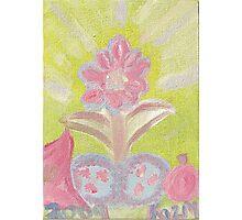 Painted Pastel Plant Photographic Print