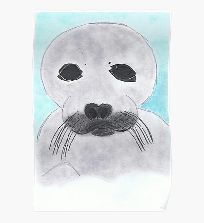 Save the Beautiful Seals Poster