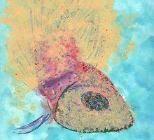 Jewel-Eyed Fish (acrylic) by Helene Henderson