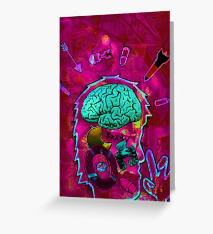 brain attack Greeting Card