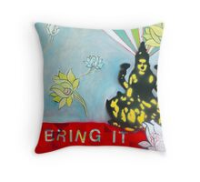 Bring IT Lakshmi goddess of Abundance Spiritual Art Throw Pillow