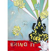 Bring IT Lakshmi goddess of Abundance Spiritual Art Photographic Print