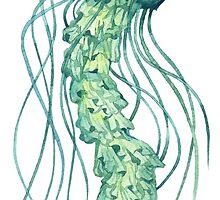 - Green jellyfish - by Losenko  Mila