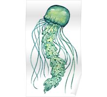 - Green jellyfish - Poster