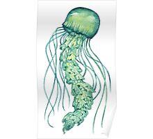 - Green jellyfish - Poster
