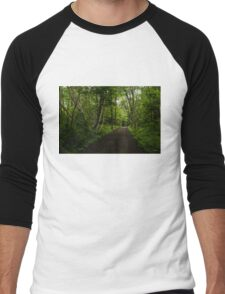 Summer Forest Tranquility - Beautiful Charlevoix, Quebec, Canada Men's Baseball ¾ T-Shirt