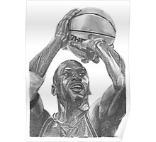 Illustration of an athlete in action. Poster