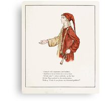 The Pied Piper of Hamlin Robert Browning art Kate Greenaway 0024 Consult with Carpenters and Builders Canvas Print