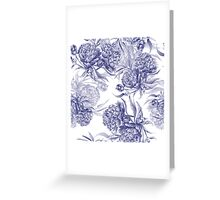 Grisaille Watercolor Peony Greeting Card