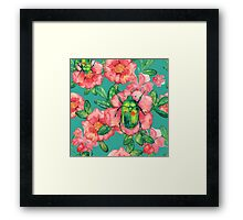 - Wild rose pattern - Framed Print