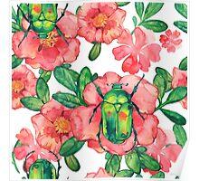 - Wild rose pattern 3 - Poster