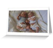 Twin dolls Greeting Card