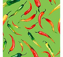 - Chilli pattern (green) - Photographic Print